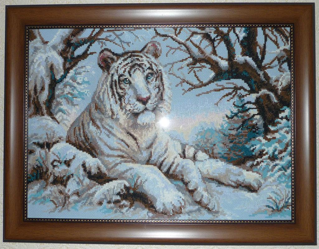 Вышивка крестом бенгальского тигра